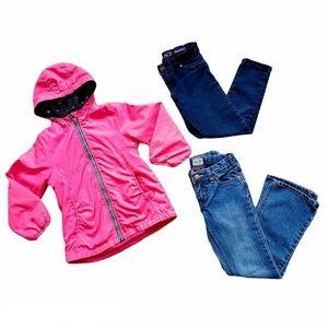 Lot of girls jacket & jeans/jeggings size 6X/7